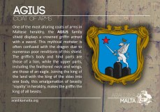 The AGIUS coat of arms