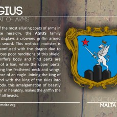 The AGIUS coat of arms