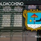 The BALDACCHINO coat of arms