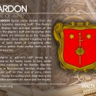The BARDON coat of arms