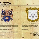 The GALIZIA coat of arms