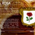 The LA ROSA coat of arms