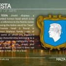 The TESTA coat of arms